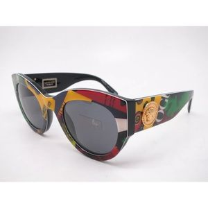 2b875703b3 Versace Sunglasses 4353 Print vogue black and grey ...